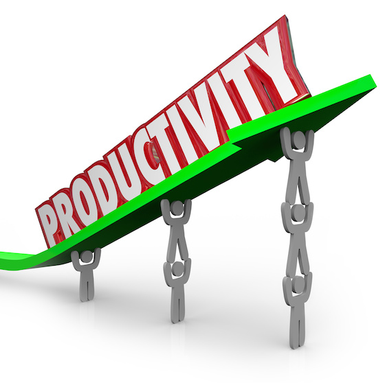 Productivity Efficient Teamwork Productive People Working Together Lifting Word