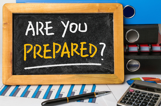 are you prepared handwritten on blackboard